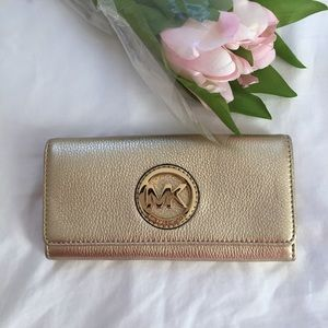 Michael Kors Pale Gold Wallet